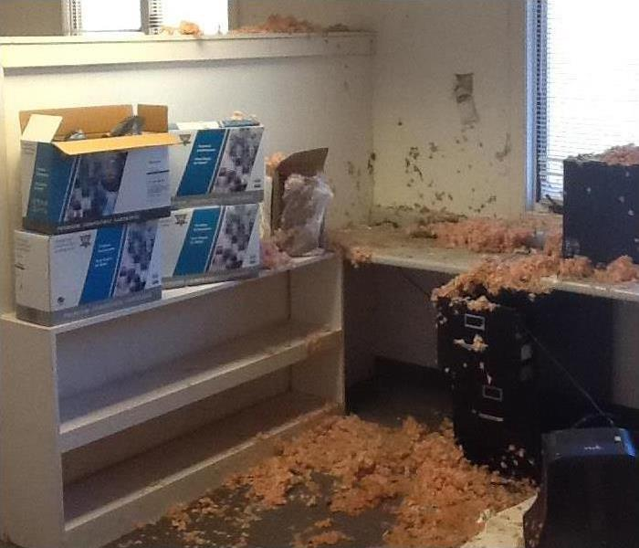 Water Damage – Santa Monica Office Building Before