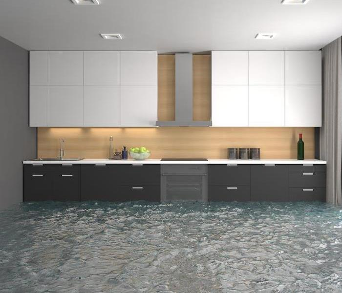How walls and cabinets are affected by water damage in - How to repair water damaged kitchen cabinets ...